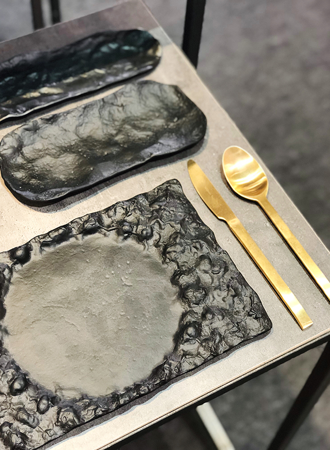 Tableware and cutlery from Pordamsa at Ambiente 2018