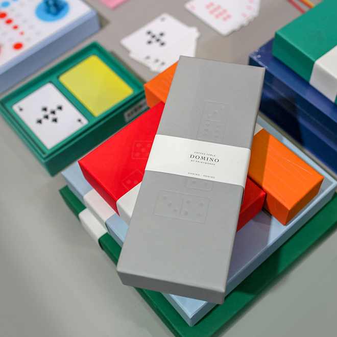 Domino game from Printworks at Ambiente 2018