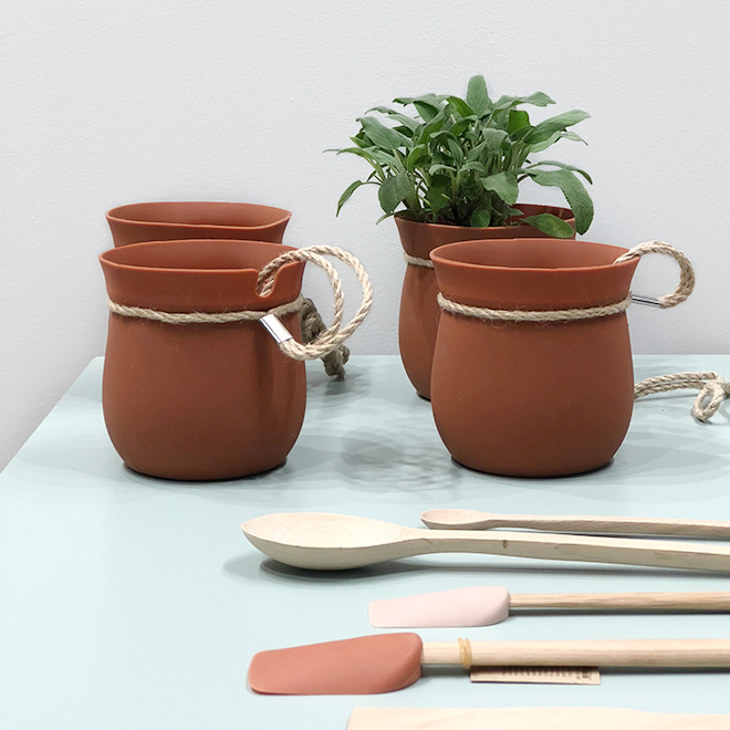 Terracotta plant pots and kitchen accessories from Rig Tag at Ambiente 2018