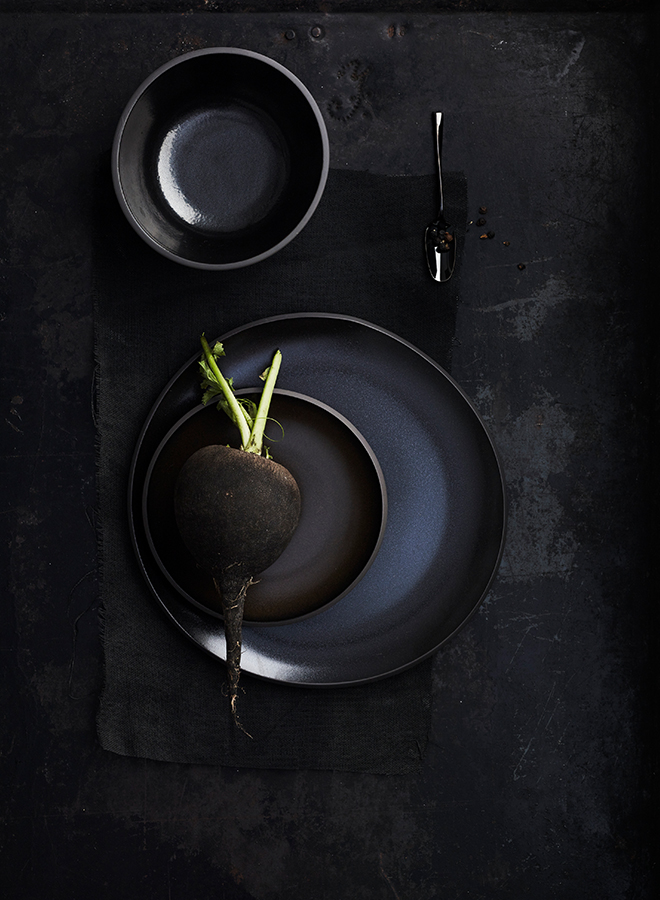 Black tableware from Rosenthal