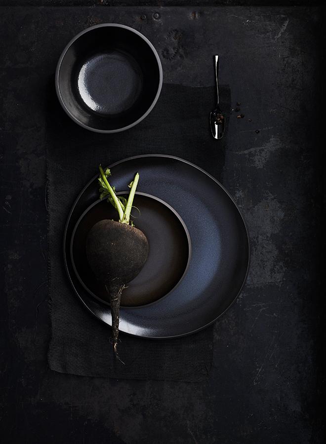 Schwarzes Geschirr von Rosenthal
