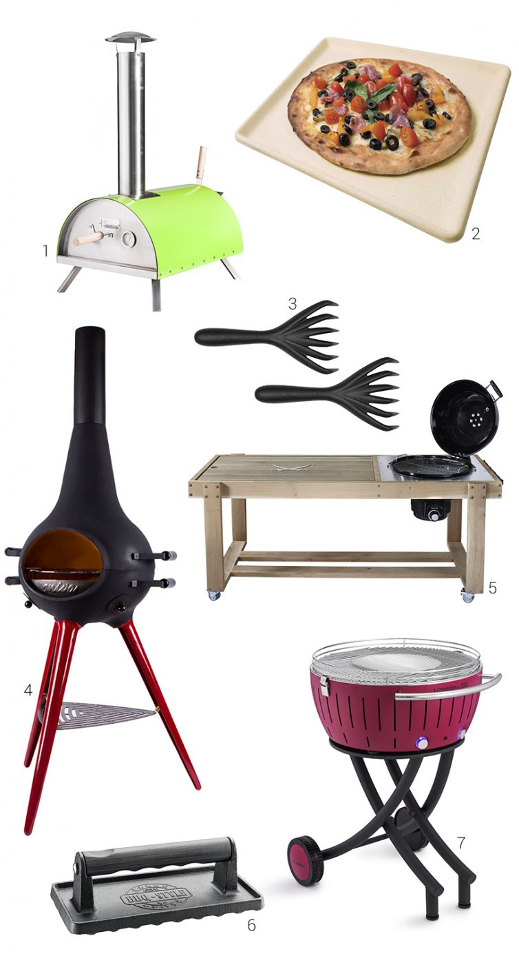 Composing of barbecue and pizza accessories from exhibitors of the Ambiente fair