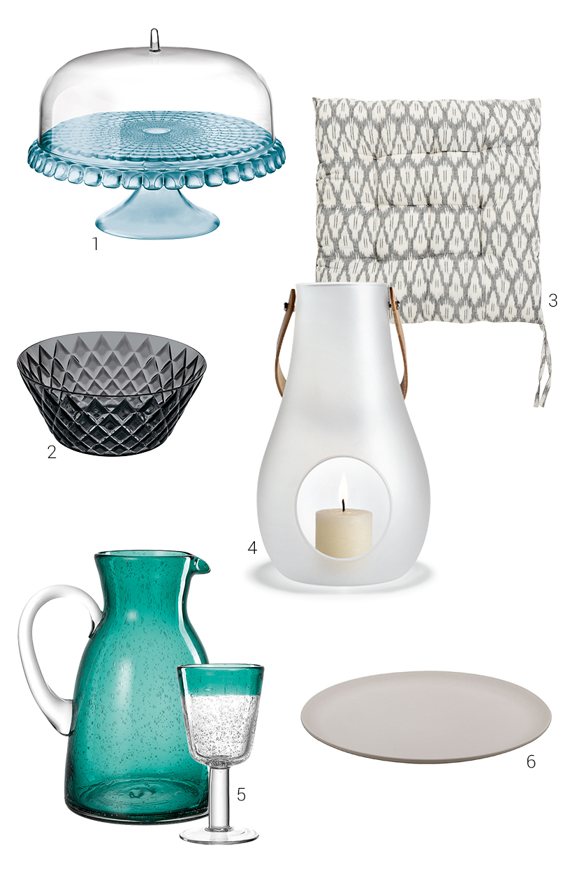 Composing of decorative outdoor products from exhibitors of the Ambiente fair