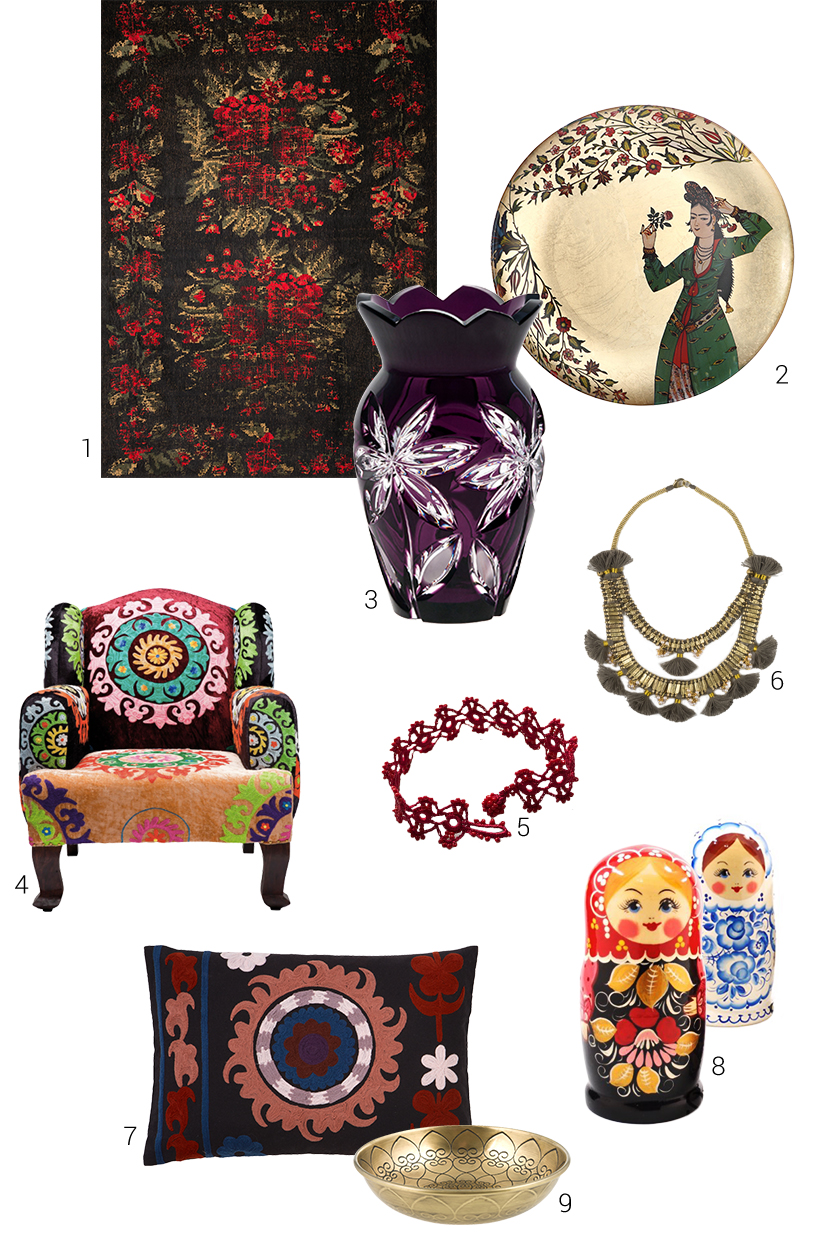 Composing from antique chic products in the Slavic style from exhibitors of the Ambiente fair