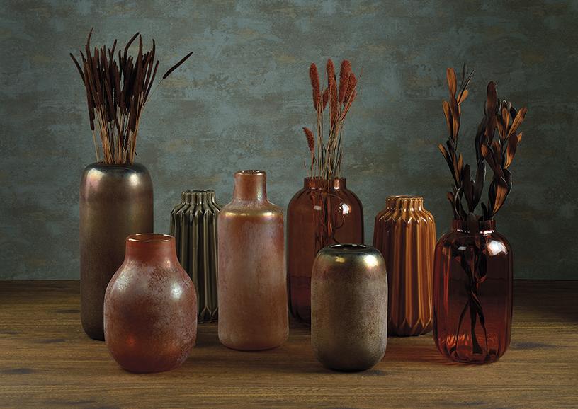 Vasen von Andrea House in Terrakotta und Erdtönen