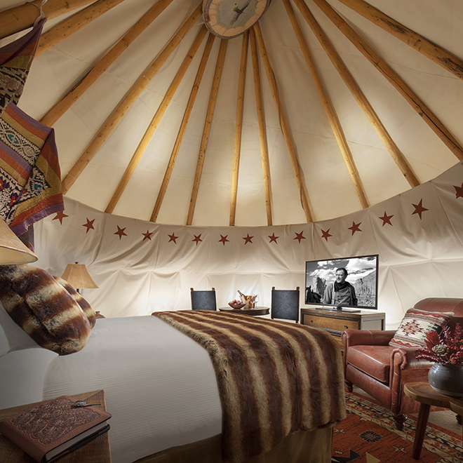 Hotelzimmer des Capitol Reef Resorts in Utah - U.S.A.