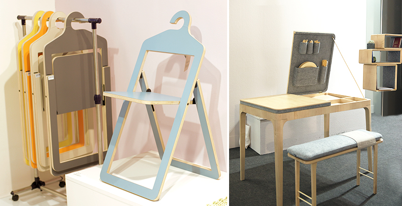 Praktische platzsparende Möbel von Jessica Herrera auf der Trend tour der Ambiente Messe in Frankfurt.