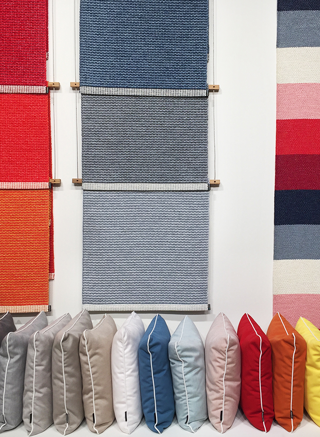 Outdoor carpets and cushions from Pappelina at Ambiente 2018
