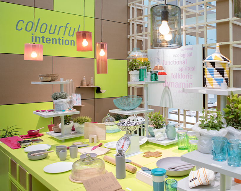 Trendprodukte zum Trend Colourful Intentions auf der Ambiente 2018